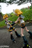Roller Blading Hand-in-Hand by nutcase23