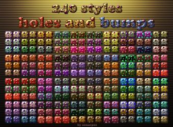 240 styles holes and bumps by sonarpos