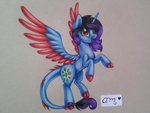 Sunny Crist (commission - traditional) by AideeMargarita