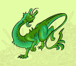 Green dragon with pattern by NooGravity