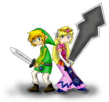 LoZ: Back to Back... Badasses? by treetune