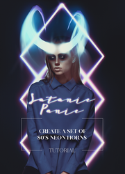 How To Create a Pair of Neon Horns In Photoshop by AbbeyMarie