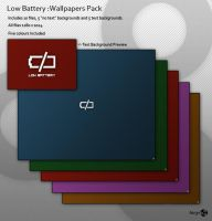 Low Battery: Wallpaper Pack by Azr3n