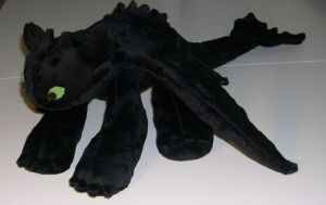Nightfury plush by Bladespark