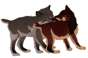 Brother Puppies by MemosNiceSide