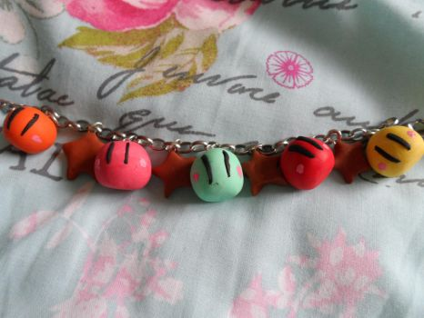 Dango and starfish bracelet by Snow-of-Wonderland