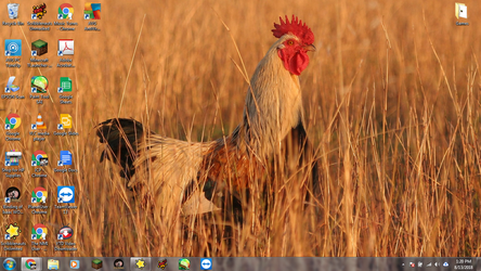Windows 7 Desktop: Rooster by jcpag2010