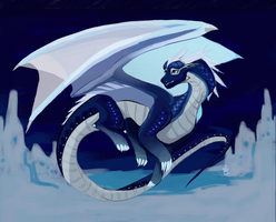 so much snow you can't see by PoisonousSilverQueen