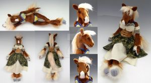 Custom Horse Anthro Doll - Dallas by WhittyKitty