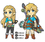 Zelda and Link Breath of the Wild