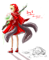 Day 8 - Red riding hood by ZenithOmocha