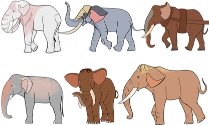 Domestic Elephant Breeds by Troyodon