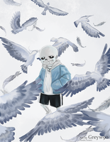 Sans - Birds (Uncover) by Greywalker2