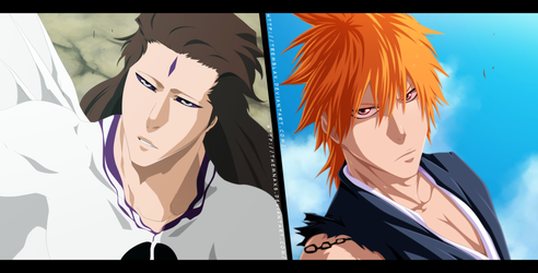 Aizen vs Ichigo Collab by themnaxs