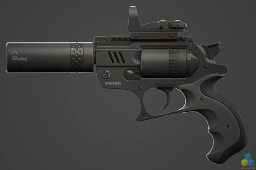 SciFi Snubnose Revolver - Shot4 by pixelquarry