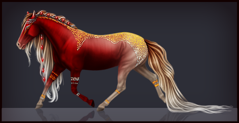Fantasy Horse Adoptable [closed] by Ruanly