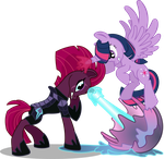 Tempest Shadow vs. Twilight Sparkle by seahawk270