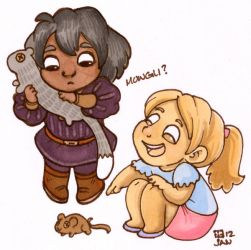 Little Mias and Elle markers. by StressedJenny