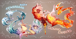 [SD] RE-AUCTION :: Glowing Embers [CLOSED] by Sapphu-Adopts