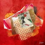 Red Paper Collage by StarwaltDesign