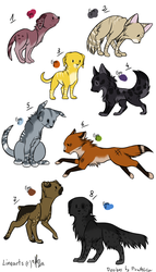 Canines (or felines) adoptables by PirateLila