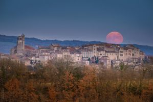 Winter Moonrise by OlivierAccart