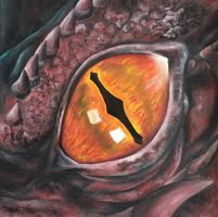 Smaug's eye No.2 by ElizabethHolmes