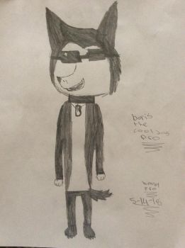 Boris the cool dog pro drawing by bendypro