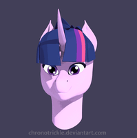 Twilight Sparkle 3D Bust Turntable by ChronoTrickle