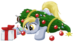 Derpy Christmas by Ohemo