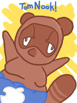 Tom nook by SpaceWaffleDelivery