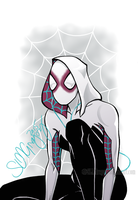 Spider-Gwen by SLMGregory