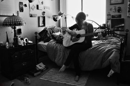 Joss and Her Guitar by Naceal