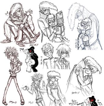 DANGANRONPA Scribbles by Serge-Stiles