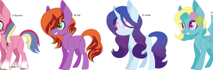 100 Ponies - Seasons (OTA Adopts) by CheshireGrinAdopts