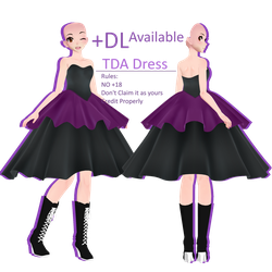 TDA Dress +DL by FierceBloodMMD
