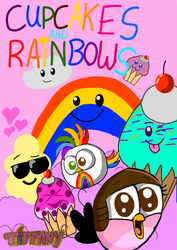 Cupcakes and Rainbows poster :3 by ANGRYBIRDSTIFF