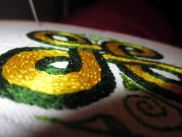 Viking Embroidery WIP by VickitoriaEmbroidery