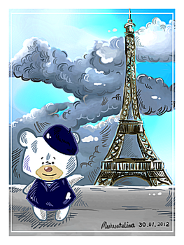 Chuckle Bear in Paris by Tuhvatulina