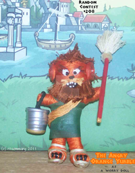 Angry Orange Yurble Forefitor Worry Doll by rosemmaryy