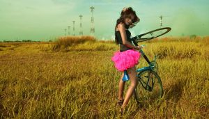 Balerina with my bike 2 by petruslingga