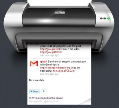 tweet printer by nishad2m8