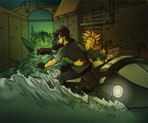 Sewer Chase by TheDelphina