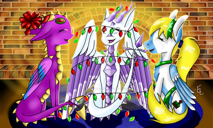 Wrapped Up in the Holidays by doodledragon1500
