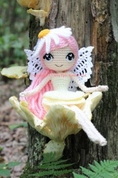 Althaena the Summer Fairy Crochet Amigurumi Doll by Npantz22