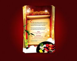 Munasan Restaurant flyer by artofmarc