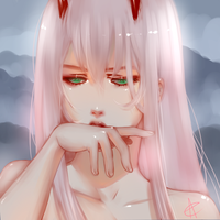 darling in the franxx Zero Two 002 by AnnCalina