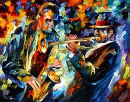 Duet by Leonid Afremov by Leonidafremov