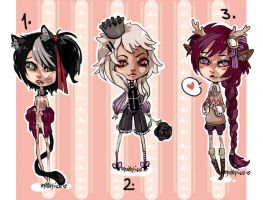 ChibiAdopts-10: CLOSED by mostlyniceAdopts