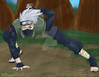 Green Leaf Kakashi by TheNobody1990
